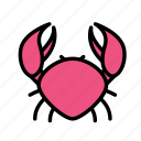 crab, drink, food, meal icon
