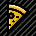 fast, food, italian, meal, pizza, restaurant, slice