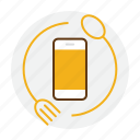 app, cafe, food, mobile, phone, restaurant icon