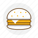 burger, eat, fast, food, hamburger, restaurant icon