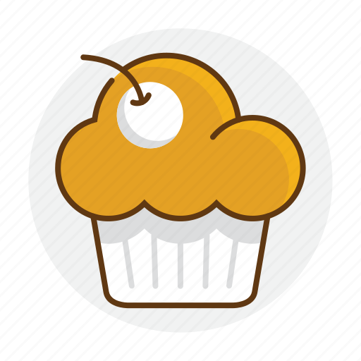 bakery, cake, cupcake, dessert, food, muffin icon