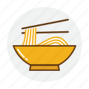 bowl, food, noodles, pasta, ramen, restaurant icon