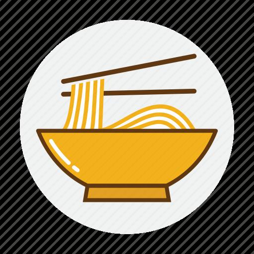 bowl, food, noodles, pasta, ramen, restaurant icon