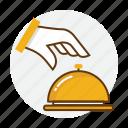 bell, hand, hotel, order, restaurant, service icon