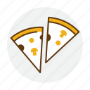 food, italian, italy, piece, pizza, restaurant icon