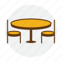 booking, chair, dining, dinner, restaurant, table icon