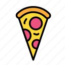 drink, food, meal, pizza, slice icon