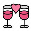 dinner, drink, food, meal, romantic icon
