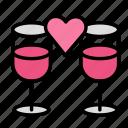 dinner, drink, food, meal, romantic