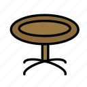 drink, food, meal, roundtable icon
