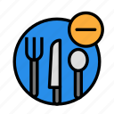 drink, food, meal, remove, tool icon