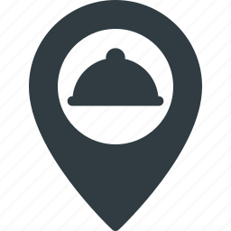 location, map, restaurant, service icon