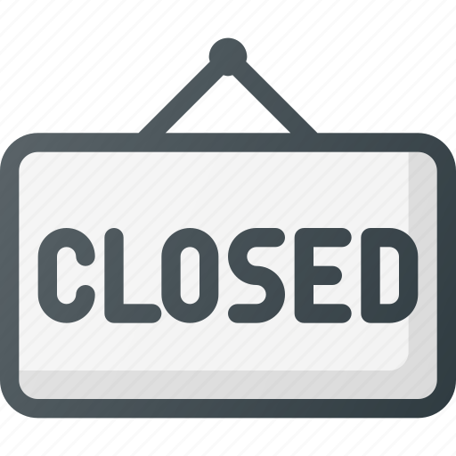 closed, hanger, sign icon