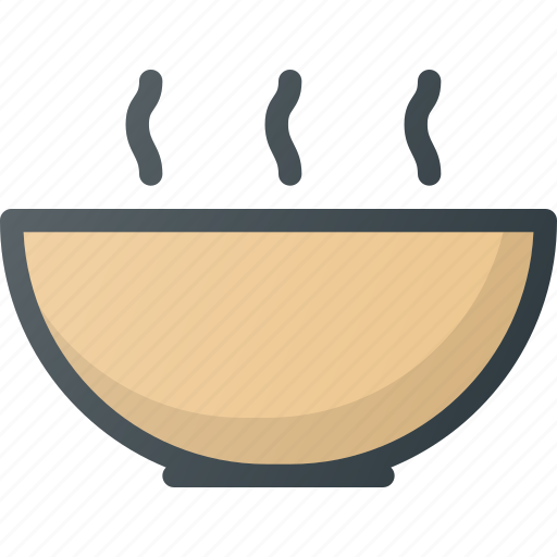 bowl, food, hot, restaurant, soup icon