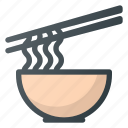 bowl, food, hot, noodle, restaurant, soup icon