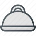 food, platter, restaurant, service icon