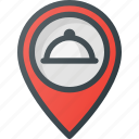 location, map, restaurant, service icon