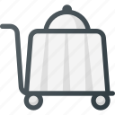 dinner, restaurant, service, trolley icon