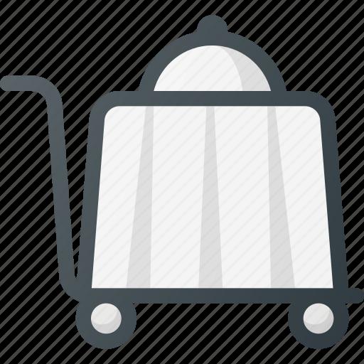 dinner, restaurant, service, trolley icon