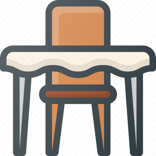 one, person, reservation, restaurant, table icon