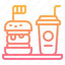 beverage, drink, fast, hamburger, junk icon