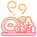 food, menu, pork, roast, vegetables icon