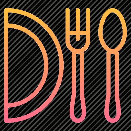 dish, element, fork, kitchen, restaurant, spoon icon