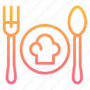 element, food, fork, kitchen, restaurant, spoon icon