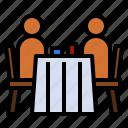 dinner, restaurant, romantic, table icon