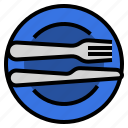 cutlery, etiquette, excellent, manners, restaurant, utensils icon