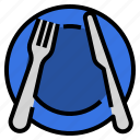 cutlery, etiquette, manners, pause, restaurant, utensils icon