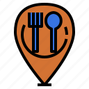cafeteria, canteen, eating, landmark, location, restaurant icon