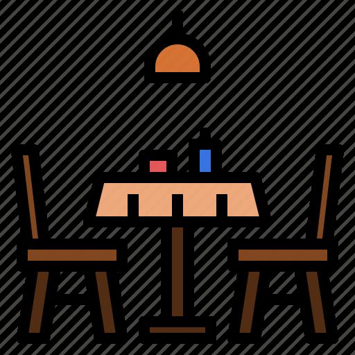 dinner, eating, reservation, restaurant, table icon