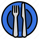 cutlery, etiquette, finished, manners, restaurant, utensils icon