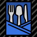 holder, manners, restaurant, table, utensils icon