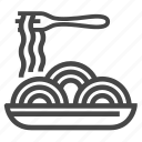 dish, food, hot, meal, restaurant, spaghetti icon