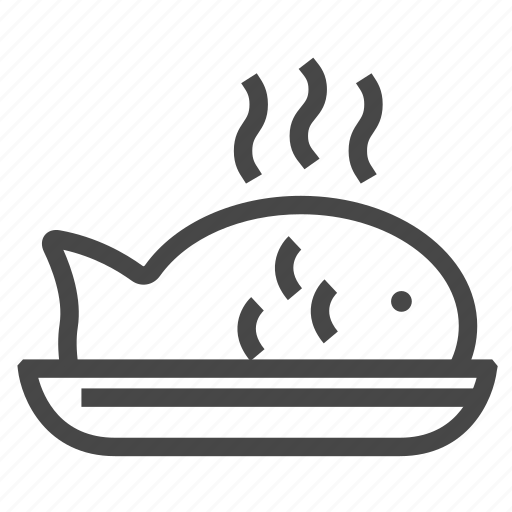 Dish, fish, food, hot, meal, restaurant icon - Download on Iconfinder