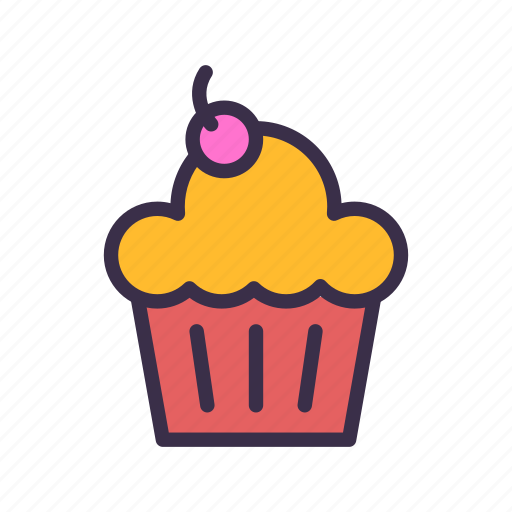 cupcake, food, restaurant, sweet icon