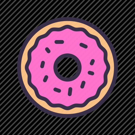 bread, donut, food, restaurant, street, sweet icon