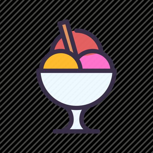 cream, ice, restaurant, sweet icon