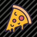 food, pizza, restaurant, street
