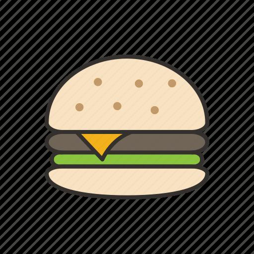 burger, eat, fast, food, hamburger, restaurant icon