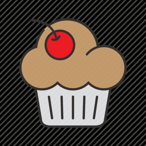 bakery, cake, cupcake, dessert, food, muffin icon