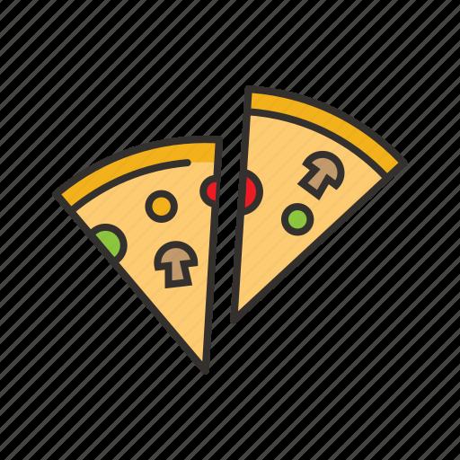 food, italian, italy, piece, pizza, restaurant icon