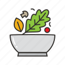 bowl, food, health, salad, vegetable, vegetarian icon