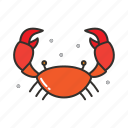animal, crab, food, restaurant, sea, seafood icon