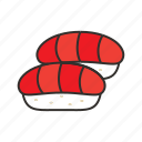 fish, food, japan, restaurant, rice, salmon, sushi icon