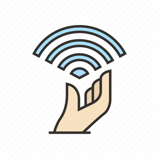free, hand, internet, signal, wifi, wireless icon