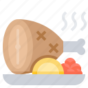 course, grill, main, meat, steak icon