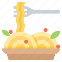food, italian, meal, pasta, spaghetti icon